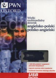 Wielki multimedialny słownik angielsko-polski polsko-angielski PWN-Oxford na pendrive