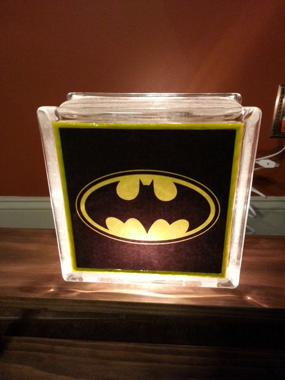 Hey, I found this really awesome Etsy listing at https://www.etsy.com/listing/154821861/lighted-batman-glass-block