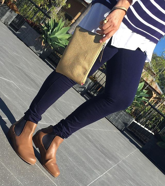Wednesday's are for navy, stripes and gold accessories.I never tire (nor my feet) of wearing my Jamie boots from @frankie4footwear