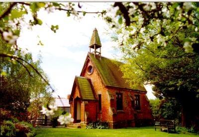 Quaint Brick Church at Brickendon Farm Village