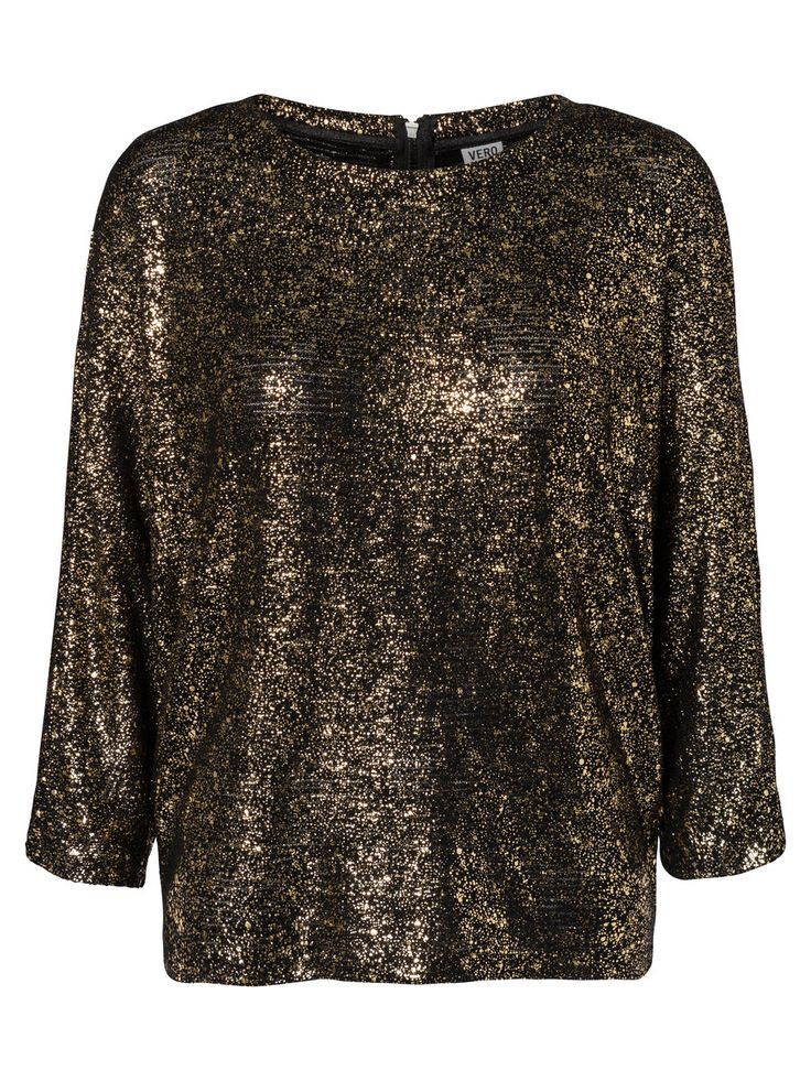 Glitter shirt from VERO MODA. Wear this with a pair of cool leather trousers.