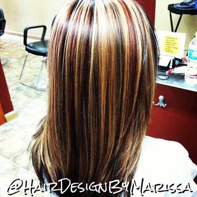 3 Color Foil Cut Amp Style Hair Design By Marissa