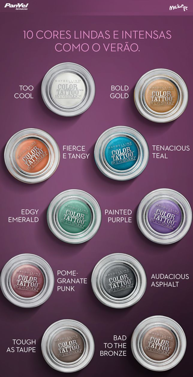 No Make It: Sombras Maybelline Color Tattoo 24h