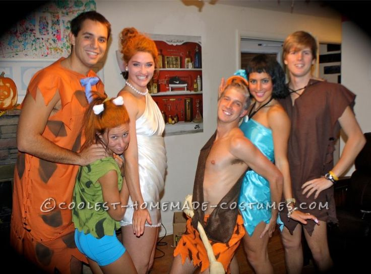 simple flintstones group costume - Simple And Creative Halloween Costumes