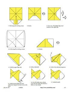 origami fish instructions for kids - Google Search