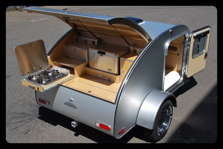 Exterior — High Camp Trailers compact camping teardrop trailers