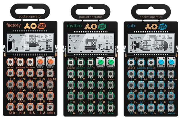 I just picked up all 3 of these mini spitfires:Teenage Engineering Pocket Operator family PO-12, PO-14, PO-16