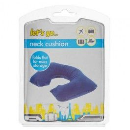 Our inflatable neck cushion will offer support for any journey- long or short. See the rest of the travel range in your nearest store.