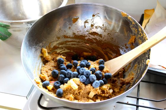 Gluten Free Blueberry Muffins Apple Crumble Topping