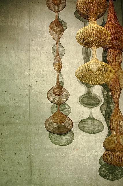 crocheted wire sculptures by Ruth Asawa.  (found via @Gemma Docherty Docherty Athena)