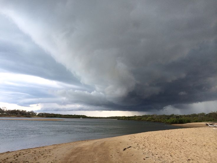 Stormy day at wild cattle creek Tannum sands qld