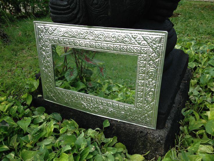 Tin detail Mirror - Bali Buddha
