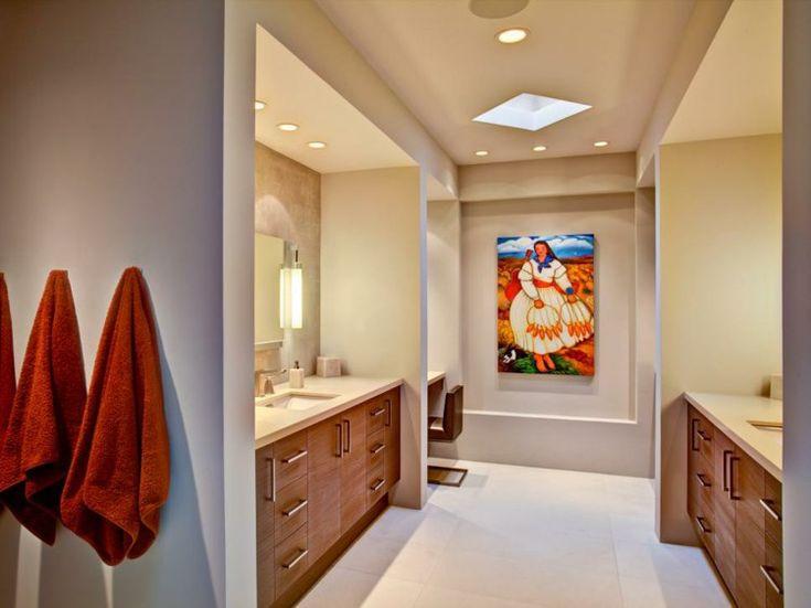 Gemalte Badezimmer, Schaffung von Umgebungen mit frischen Farben.