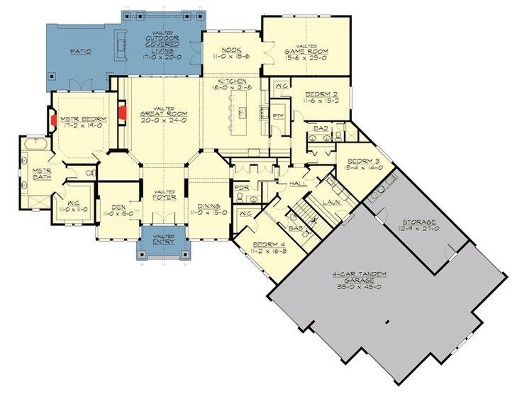 176 best House Plans images on Pinterest | House floor plans ...