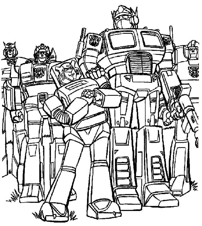 Friends Transformers Coloring Page