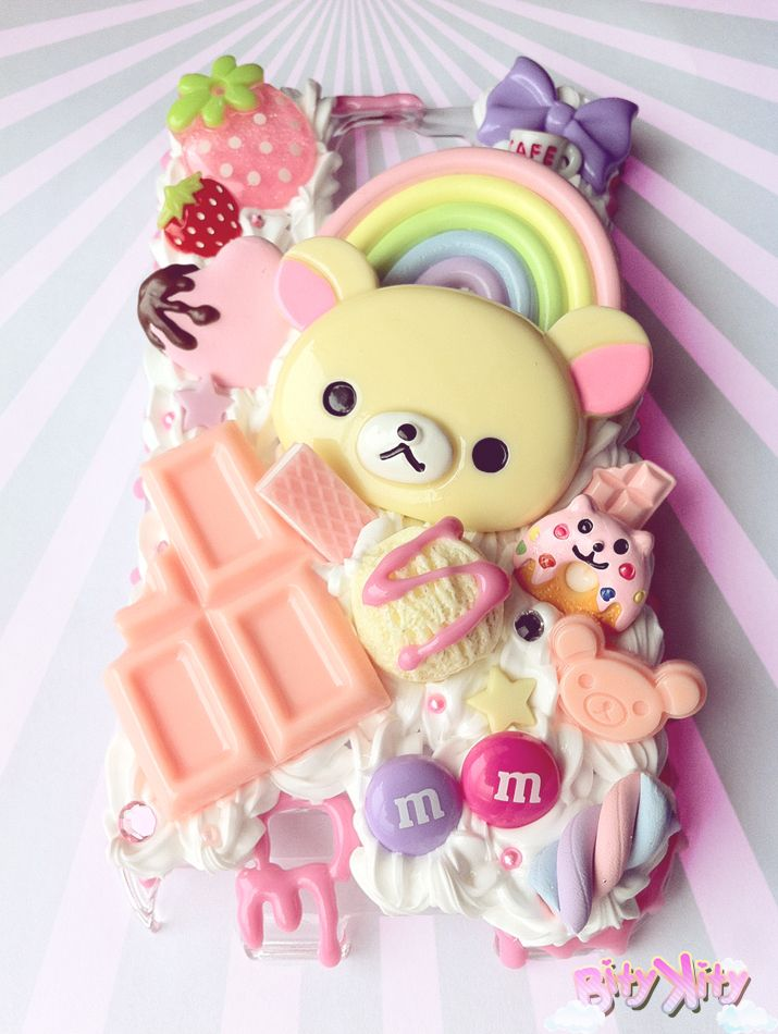 Cute decoden Korilakkuma phone case. I really want a crazy case like this. I just wonder how heavy it would be though.