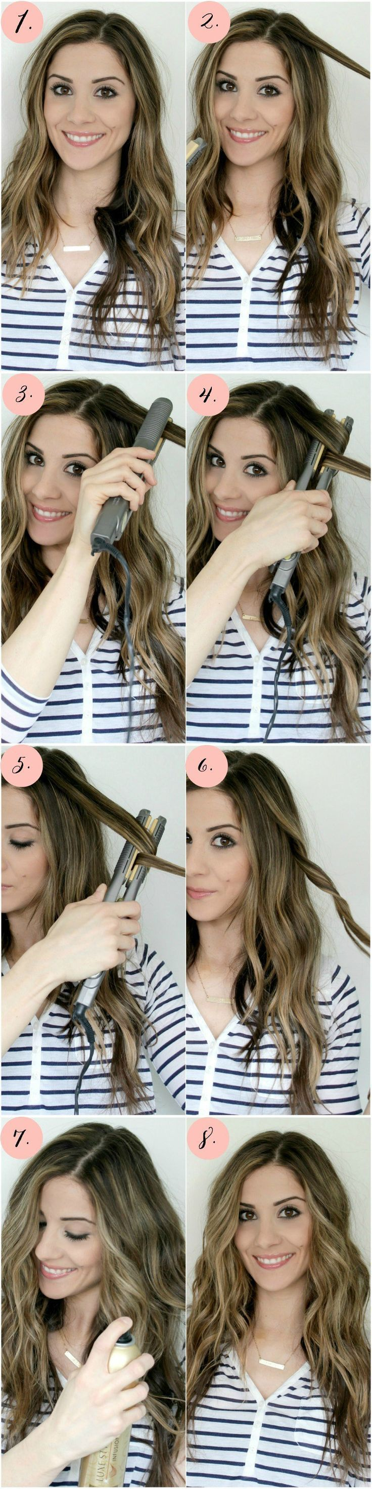 Flat Iron Curls Tutorial