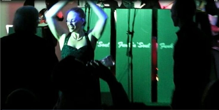 This young lady danced all night long. Age UK Coventry Dementia Charity Gig Funk'N'Soul with Jake & Elwood Blues. 14 piece band.