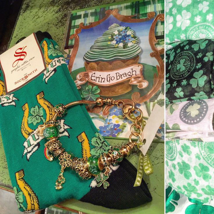 St. patricks day socks, bracelets, cards and light scarves - Violet Cottage located at 8601 Glenwood Ave in Raleigh, NC