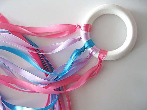 Have children dance with the ribbon rings to a calm song. The effect of the ribbons floating in the air is soothing.