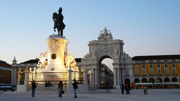 Terreiro do Paço square in Lisbon - Portugal