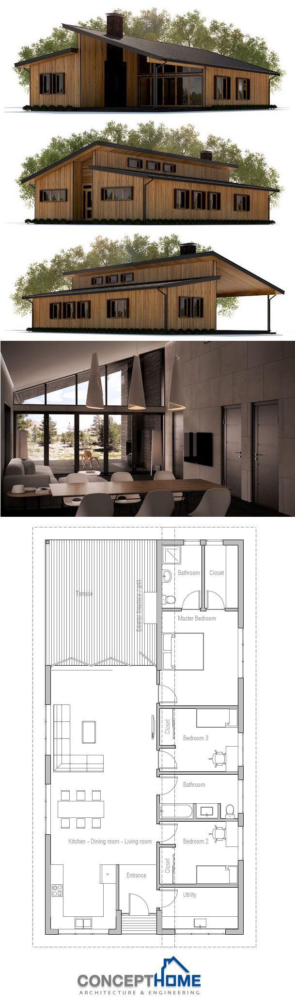 Narrow House Plan 74 best Narrow House