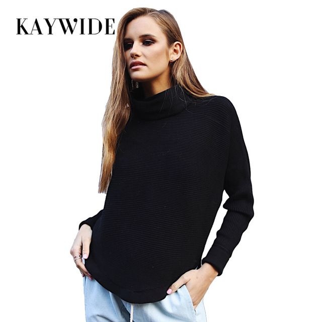 Kaywide 2017 Autumn Knitted Women Hoodies Fashion Scarf Collar Full Sleeve Casual Warm Sweatshirt Femme Elegant Winter Pullovers #Brand #KAYWIDE #sweaters #women_clothing #stylish_dresses #style #fashion