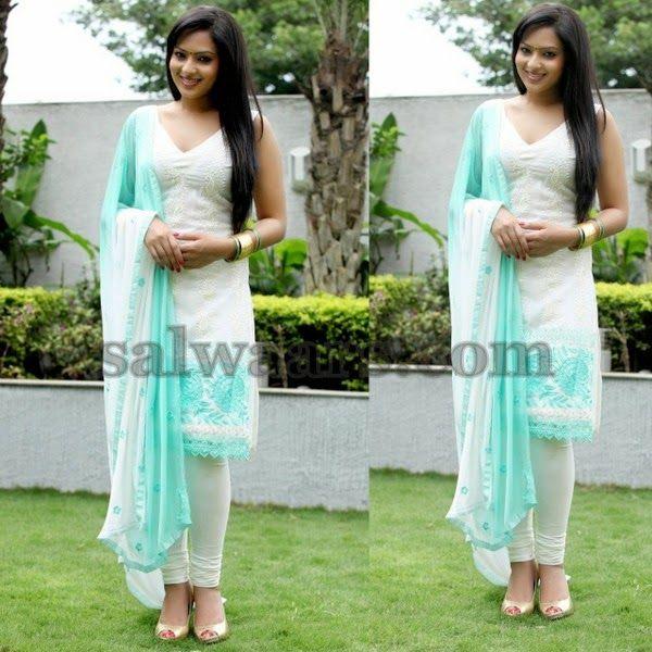 Nikesha Patel Thread Work Churidar | Indian Dresses