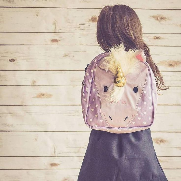 Adorable unicorn preschool backpack with optional personalization from PBK | Cool Mom Picks back to school guide 2016 | photo: kleine+prinzessin11