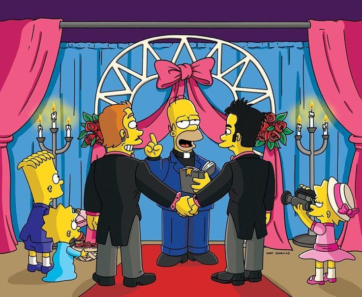Los Simpson en los colores del arcoiris #OrgulloLGBT - La enciclopedia de la cultura pop se transmite hace varios años en capítulos de media hora de duración, con personajes amarillos y la historia de una familia disfuncional como telón de fondo: Los Simpson, en todas sus inacabables temporadas, tienen guiños a gays y héteros. Por ejemplo, personajes como Waylon Smithers, el siempre anecdótico señor […]