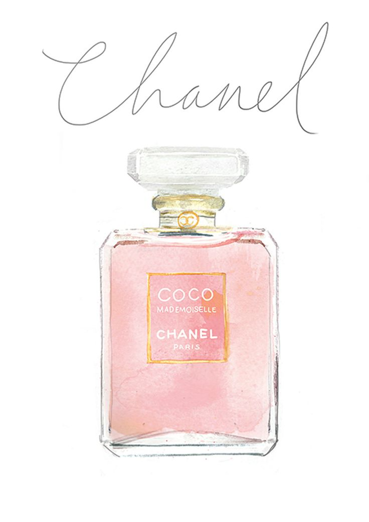 My Favorites _ Coco Mademoiselle Watercolour Chanel by mbaileyillustrations