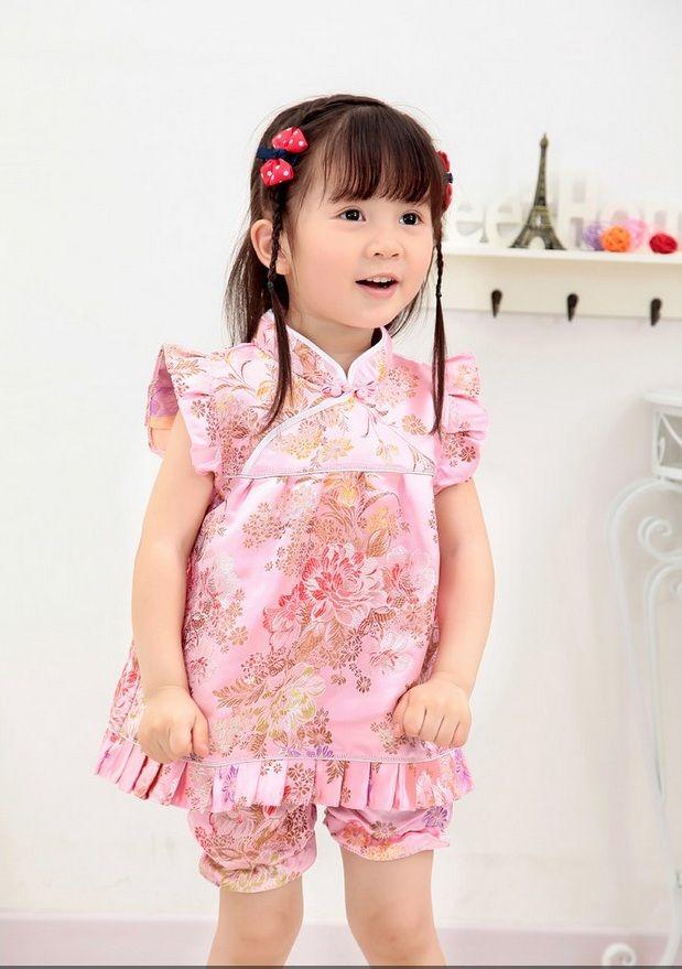 صور اطفال كوريين بنات وصبيان خلفيات اطفال كوريين ميكساتك Chinese Dress Short Princess Flower Girl Dresses Girls Sweater Dress