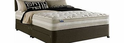 Silentnight London 4FT 6 Double Divan Bed Twin layer mattress for luxurious ortho support 750 Miracoilreg