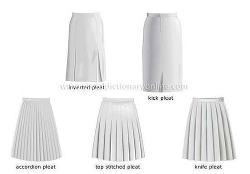 Different types of pleated skirts | Costumes - How to Make