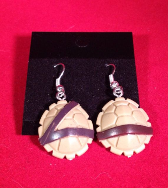 Teenage Mutant Ninja Turtle Shell Earrings  TMNT  by NextLifeToys, $15.00