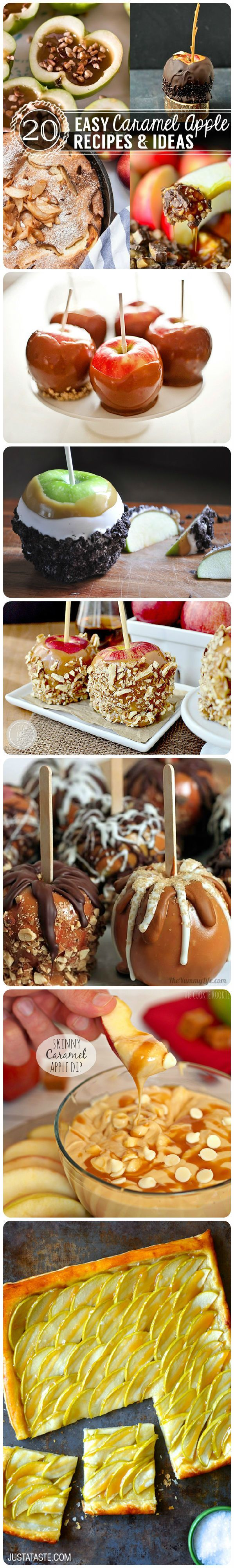 20 Easy Caramel Apple Recipes | Best Desserts and Recipes for Sweets | Pioneer Settler | Best Sweets and Treats Recipes and Ideas at pioneersettler.com| #pioneersettler | #homesteading | #selfreliance