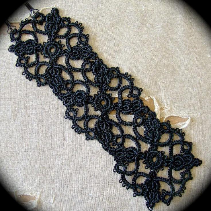 Tatted Lace Cuff Bracelet - Ornate. $35.00, via Etsy.