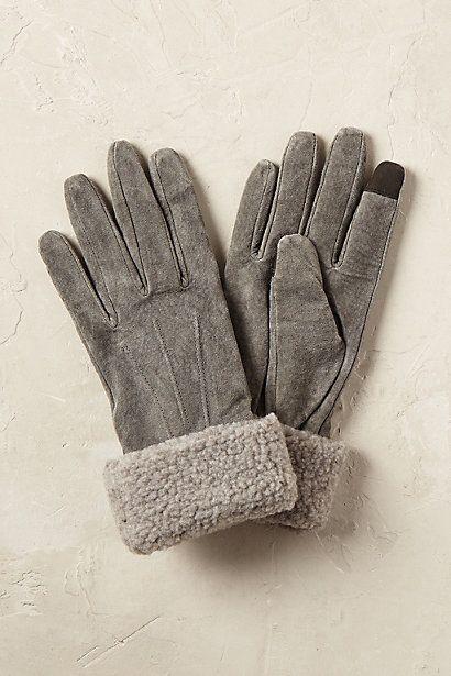 Anthropologie Europa Lammfell-Handschuhe