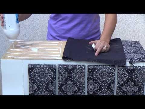 YouTube - aplicação de tecido em móveis