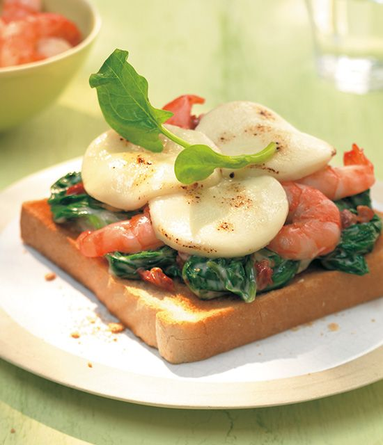 Spinat-Garnelen-Toast - Harry Brot