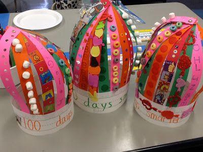 DIY 100th day of school crowns