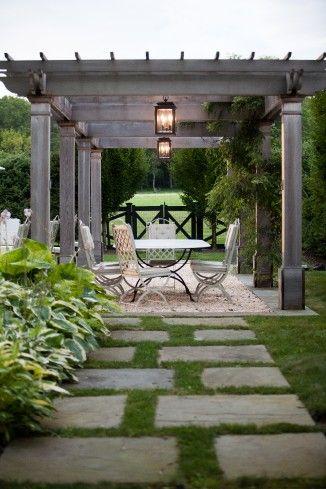 Janice Parker Landscape Design - Turkey Hill - 2012 Palladio Award Winner Dan's Pergola