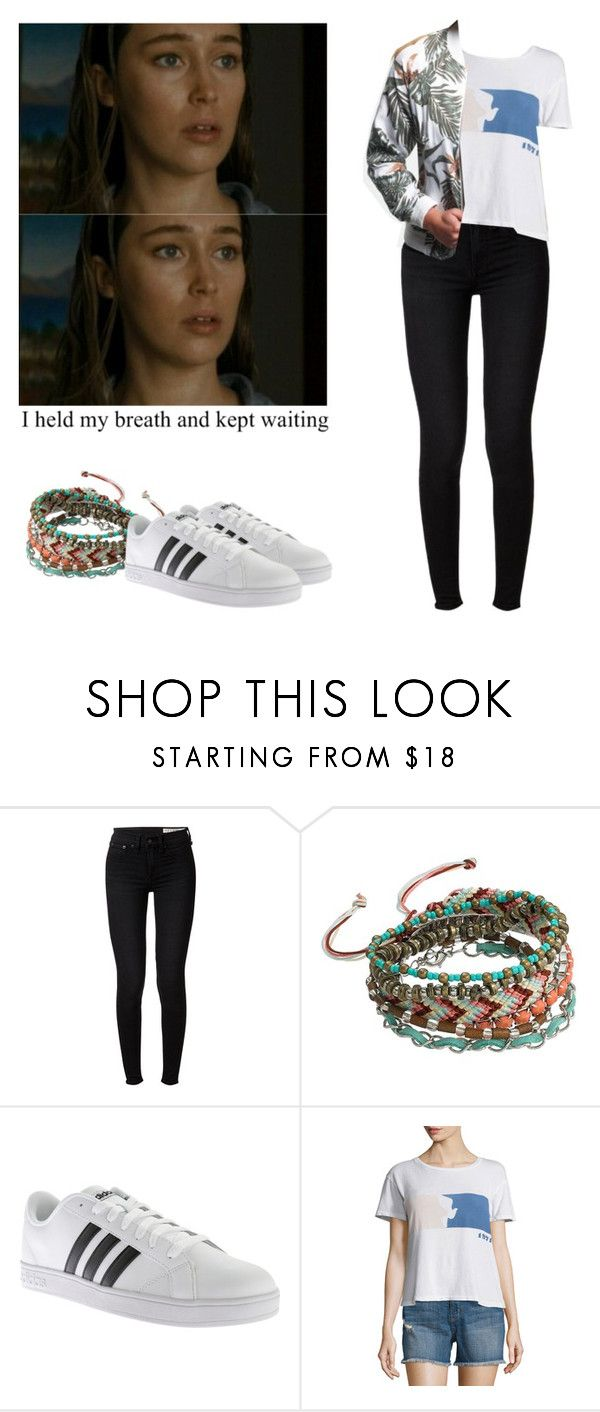 """Alicia Clark with adidas baselines - ftwd / fear the walking dead"" by shadyannon ❤ liked on Polyvore featuring rag & bone, Mudd, adidas, Current/Elliott and Superdry"