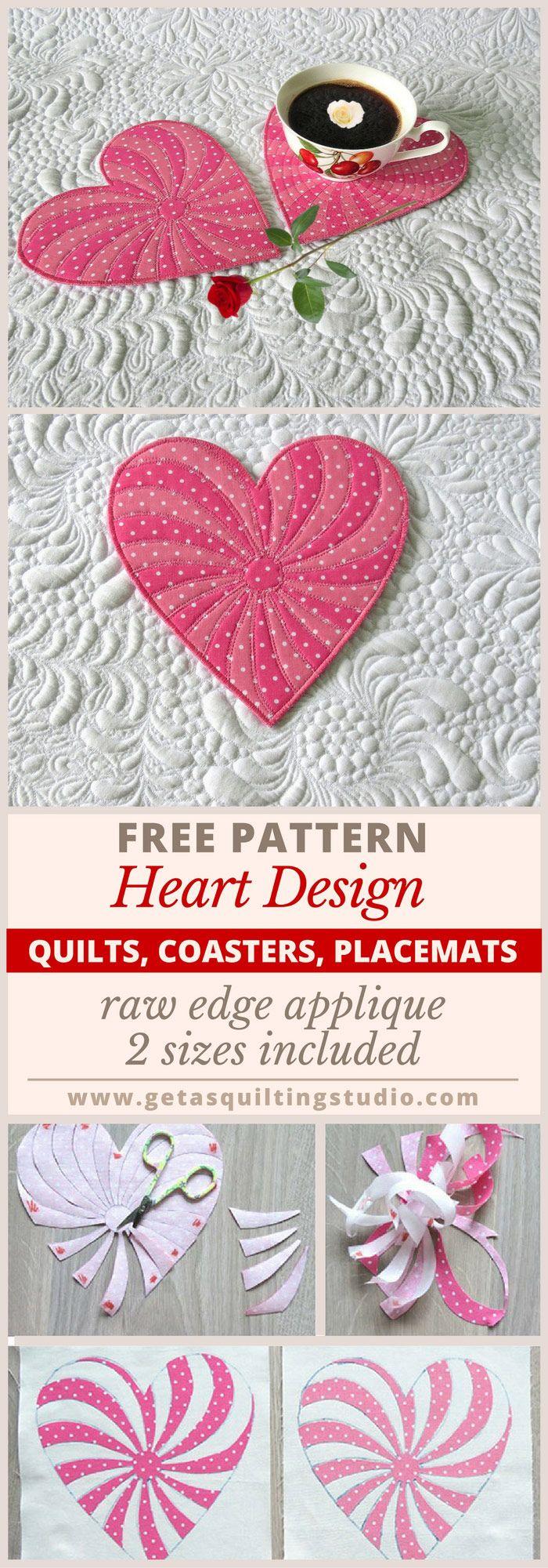 250 best images about Heart on Pinterest : free heart quilt patterns - Adamdwight.com