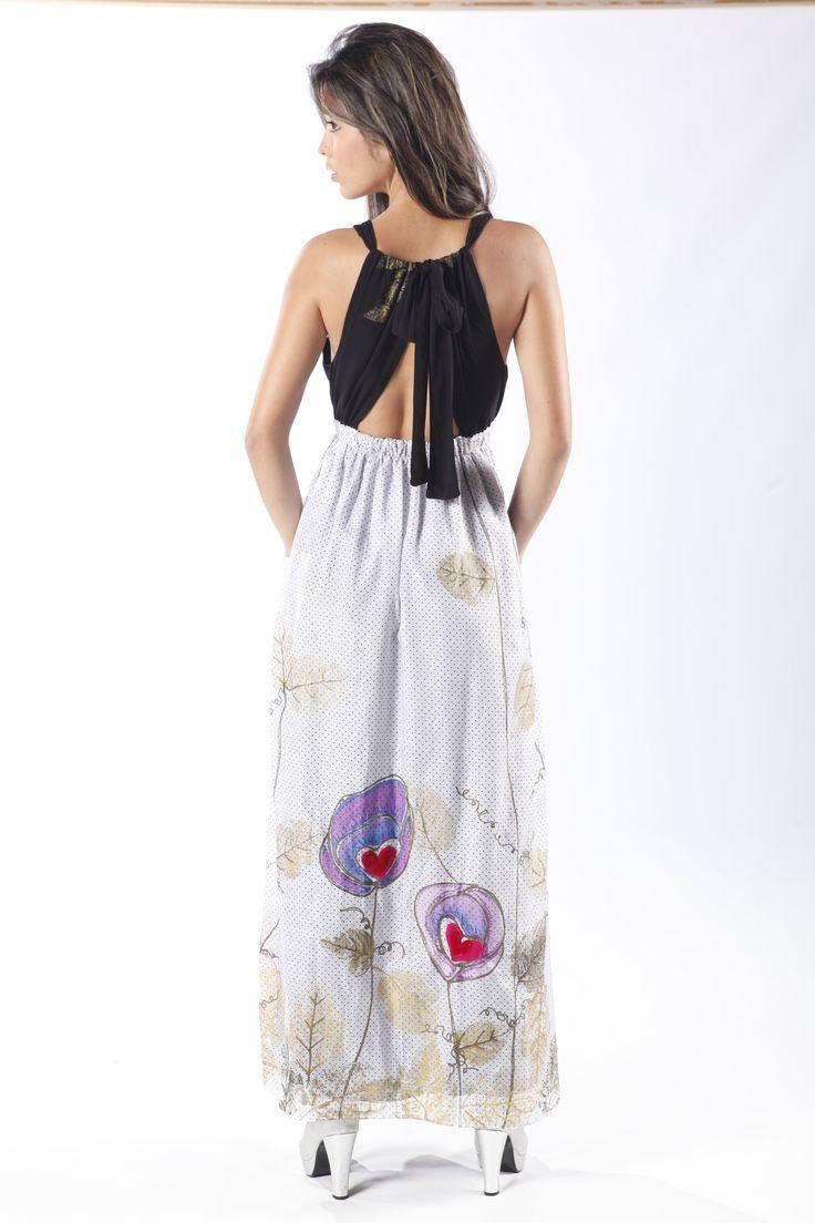Colección AroIris-Vestido Veigela, pintado a mano por Croquis