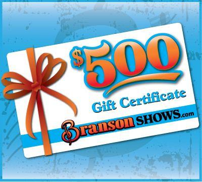 Branson Shows Summer Vacation Contest: Win a $500 Branson Gift Certificate