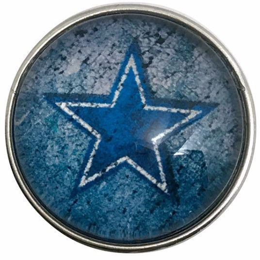 #5123 Dallas Cowboy's Star Snap 20mm for Snap Jewelry