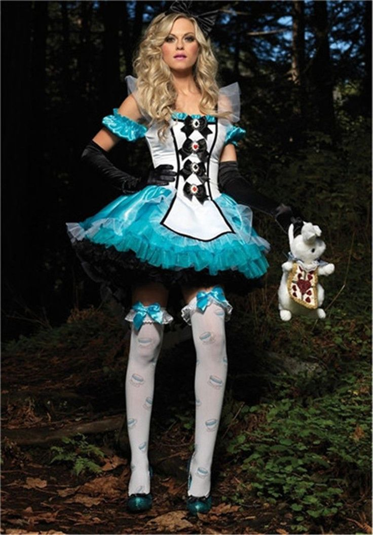 Special Use: Costumes Gender: Women Material: Polyester Components: Dresses,Other Characters: Other Item: Alice In Wonderland Costume