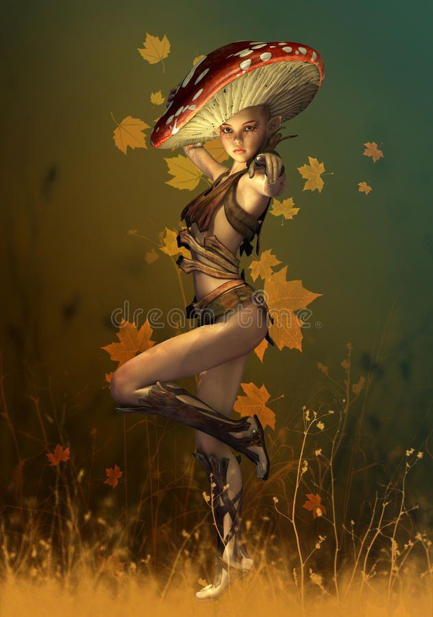 Download Mushroom Fairy, 3d Computer Graphics Stock Illustration - Illustration of fantasy, mushroom: 34323817