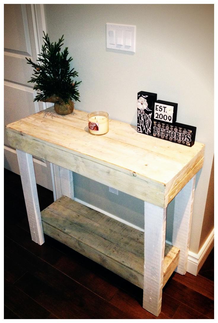 Diy Hall Table Pinterest